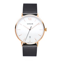 Versa 40 Watch in Rose Gold with Black Mesh