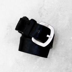 Jeans belt in All Black Cowhide