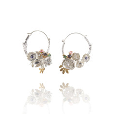 Amanda Coleman - peony hoop earrings