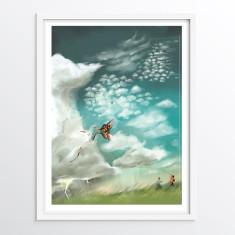 Cloud Types Illustration - Educational science art illustration for children