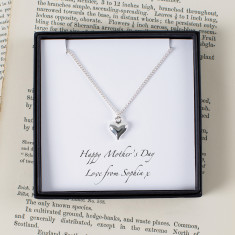 Personalised Silver Heart Mother's Day Necklace