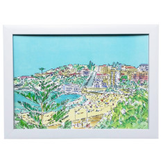 Coogee beach watercolour art print