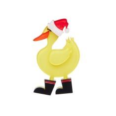 Erstwilder merry quack-mas brooch