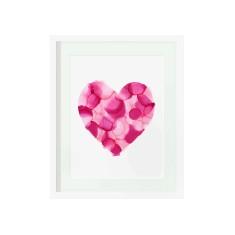Pink confetti heart print