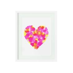 Summer confetti heart print
