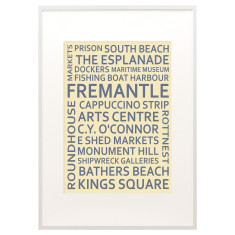 Fremantle text print