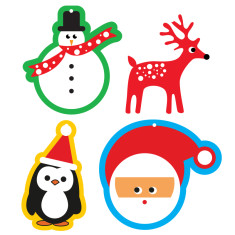 Christmas gift tags (pack of 4)