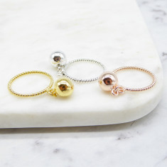 Bauble Ring (Silver/Gold/rosegold)