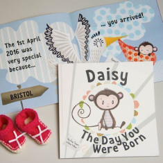 The Day You Were Born Personalised New Baby Book