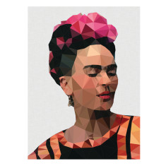 Geometric Frida 2 with grey background print