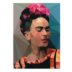 Geometric Frida 2 with geometric background print