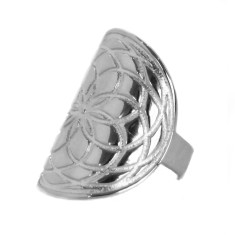 Frida armour ring in silver