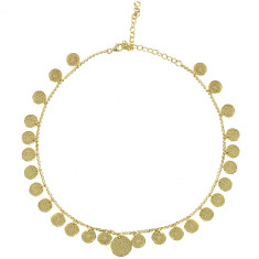 Frida choker necklace in yellow gold