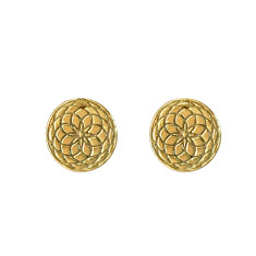 Frida stud earrings in yellow gold