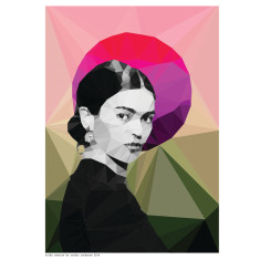 Geometric Frida sunrise print