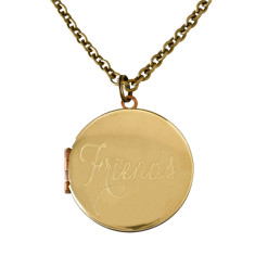 Friends... engraved vintage locket