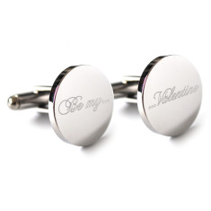Engraved Be my Valentine cufflinks