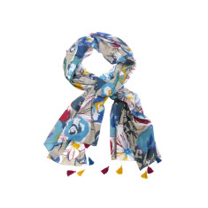 My Softest Cotton Scarf: Bold Floral Print With Tassels