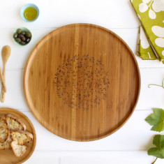Bamboo large platter in bay tree