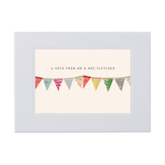 Personalised bunting notecards writing set