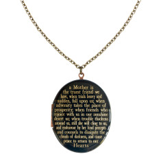 A Mother is the truest friend we have...engraved vintage locket