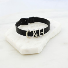 Personalised stainless steel bracelet
