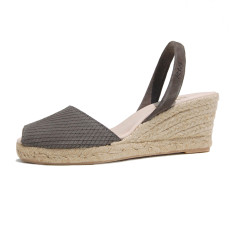 Teresa suede leather sandals in ash