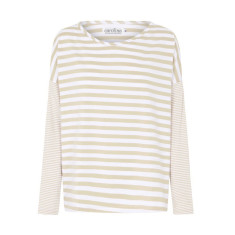 Monaco Top in Pastel Pink Stripes