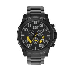 CAT Chicago Chrono series watch in Black Stainless steel plus free gift