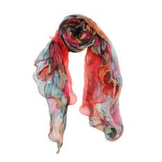 Artist's pallete silk scarf