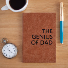 Genius of Dad handmade leather notebook