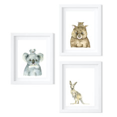 Set of Three Australian Animals - limited edition fine art prints