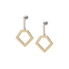 Elvi Hexagon Earrings