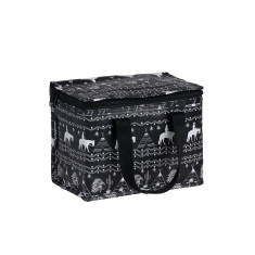Insulated lunch box bag in Wild West Print