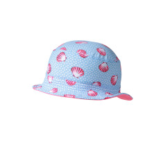 Girls' UPF 50+ bucket hat in seashell print