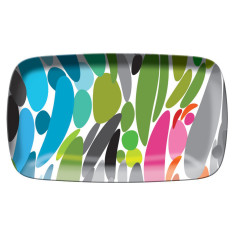 French Bull rectangular platter in twist pattern