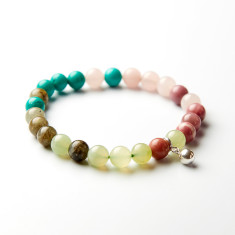 I love chakras' crystal love bracelet with bell