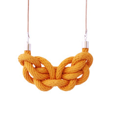 Paris knot necklace in mustard