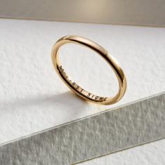 Personalised 9ct Gold Slim Wedding Ring