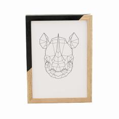 Geometric rhino framed print