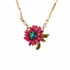 Simple Pink Flower Necklace