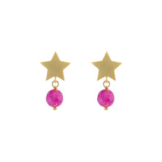 Gold Salamanca star earrings