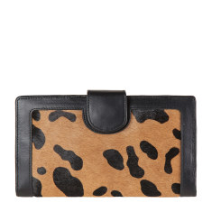Doris leather wallet in wildcat