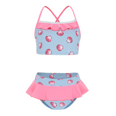 Girls' UPF 50+ seashell tankini