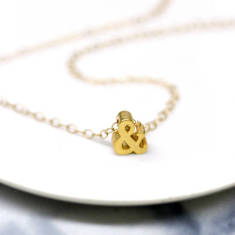 Mini ampersand charm necklace