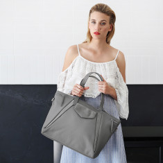 Grey Leather The Erin Brockovich Handbag