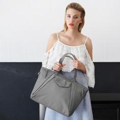 Grey Leather The Erin Brockovich Handbag