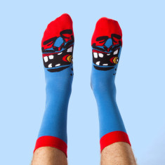 ChattyFeet Murdoc socks set for dad and child