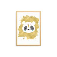Tribal Animal Panda Fine Art Nursery Print