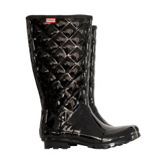 Fusion black tall rubber wellies